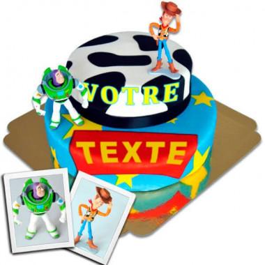 Woody & Buzz l'éclair sur gâteau deux étages