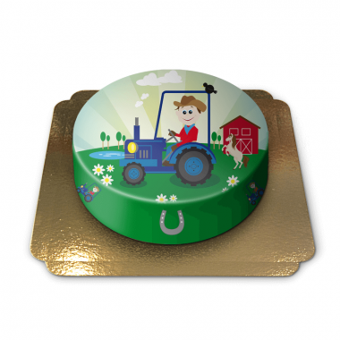 Gâteau tracteur enfants