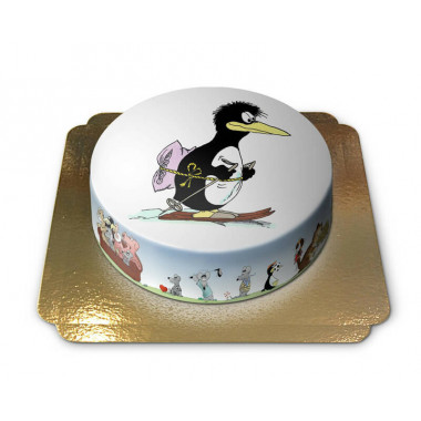 Gâteau Pingouin avec Ski