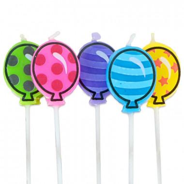 Bougies en forme de ballon (5 pièces)