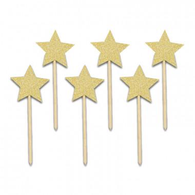 Cake Topper étoiles (6 pièces)