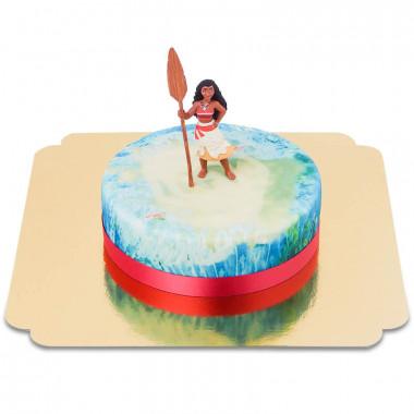 Gâteau Vaiana sur fond marin