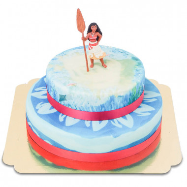 Gâteau Vaiana sur océan à deux étages
