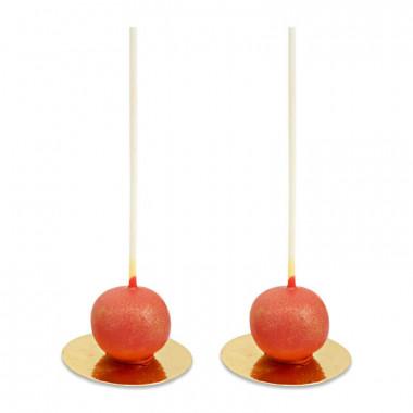Cake-Pops Saint Valentin Deluxe rouges (10 pièces)