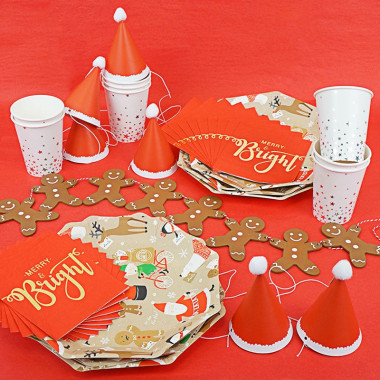 """Kit de décoration """"Joyeux Noël"""" (gâteau non inclus)"""