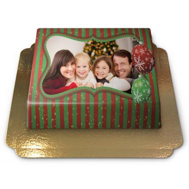 Gâteau-Photo Noël (plusieurs tailles)