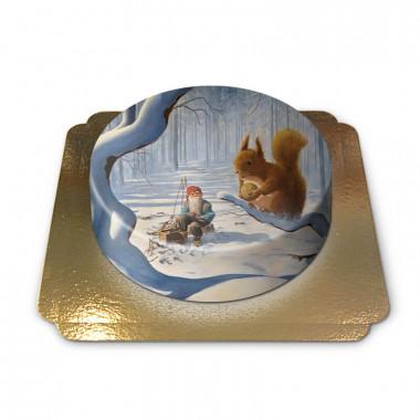 Nain de Noël avec écureuil - Jan Bergerlind