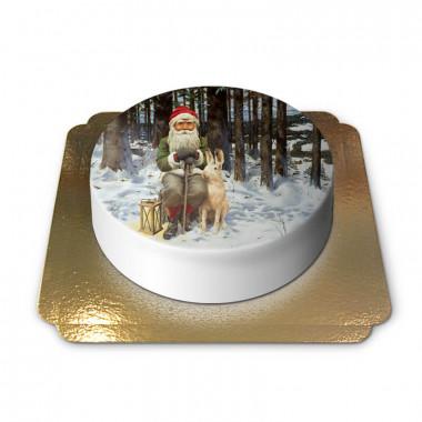 Nain de Noël avec lièvre des neiges - Jan Bergerlind
