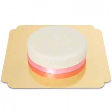 Gâteau Blanc avec Ruban