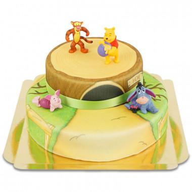 Gâteau Figurine Winnie l'Ourson et Tigrou 2 étages