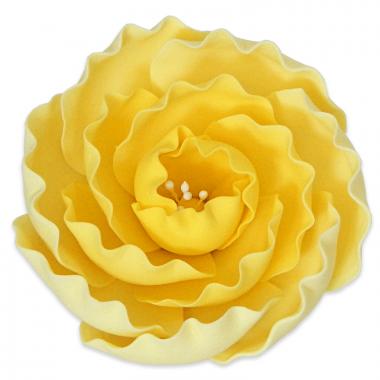 Pivoine jaune en sucre (1 pièce)