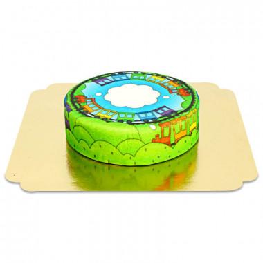 Gâteau train pour enfants