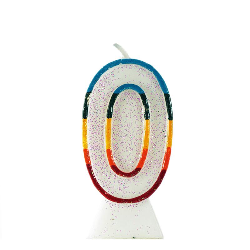 świeczka tortowa z cyfrą 0