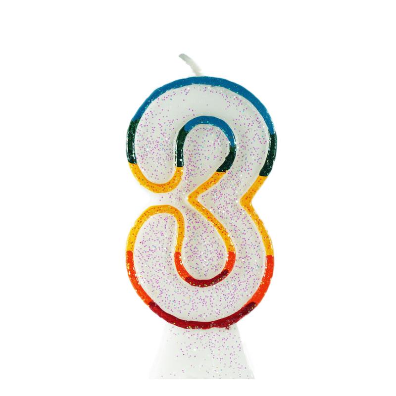 świeczka tortowa z cyfrą 3