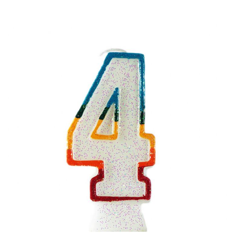 świeczka tortowa z cyfrą 4