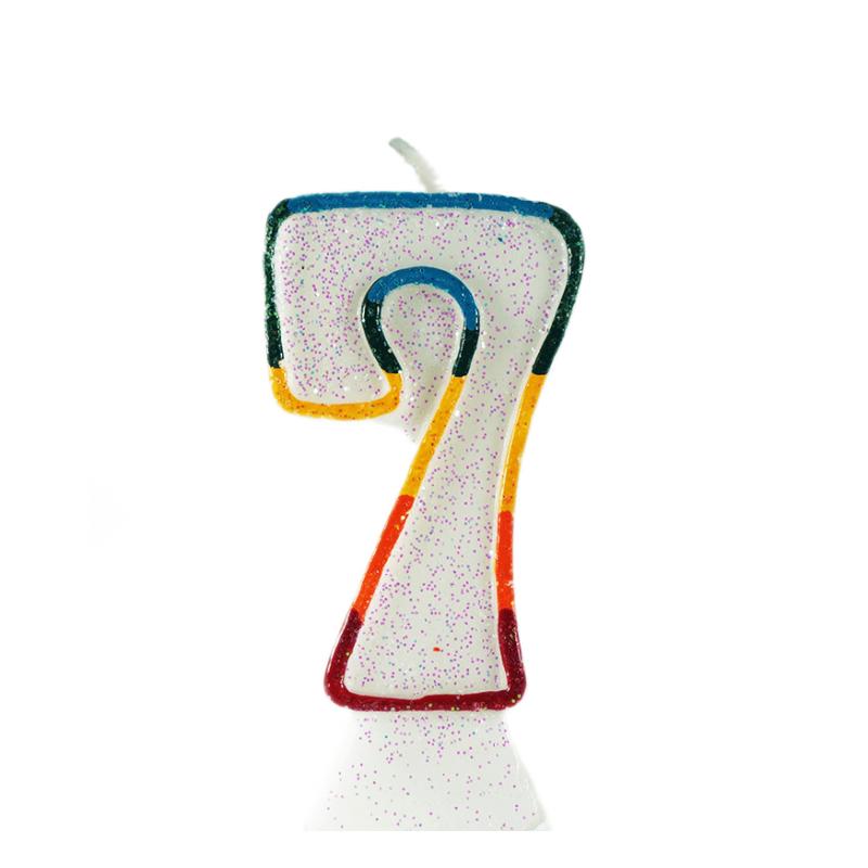 świeczka tortowa z cyfrą 7