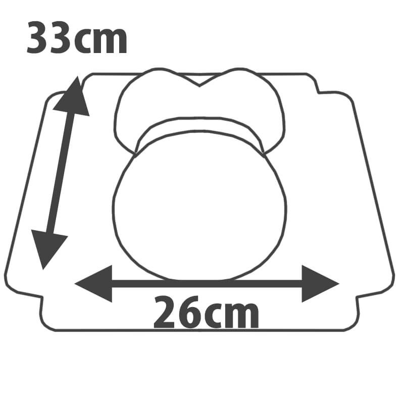 tort brzuszek w żółte kropeczki rozmiar