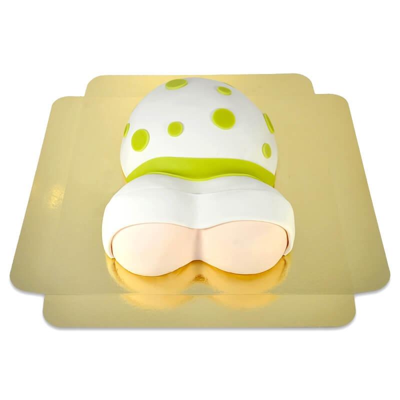 tort brzuszek w zielone kropeczki 2