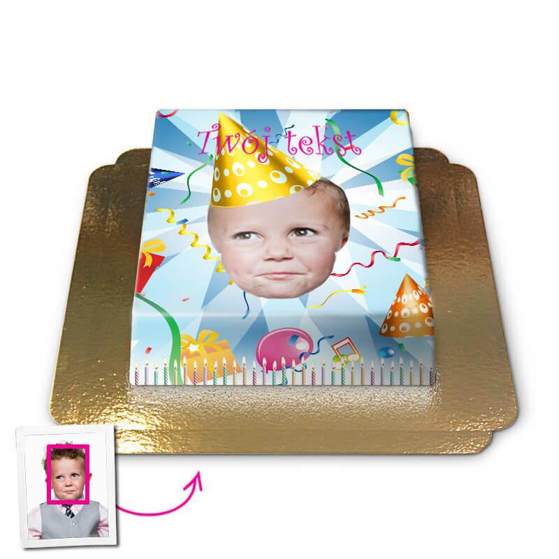 Tort Face-Cake - Urodziny