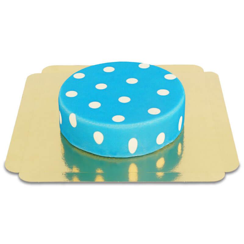 Gâteau Bleu à Pois Blancs