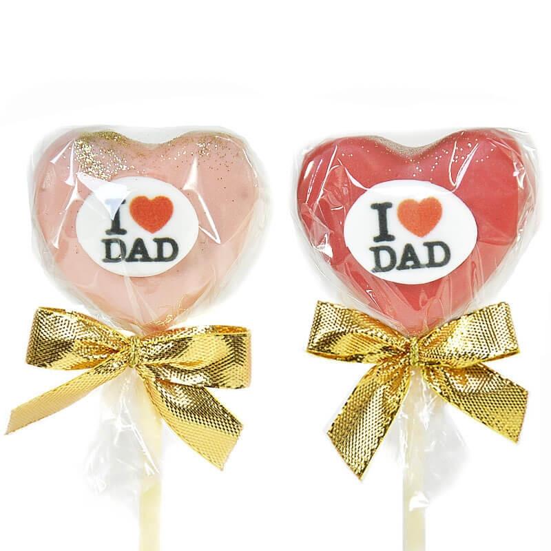 I Love Dad serduszka Cake-Pop