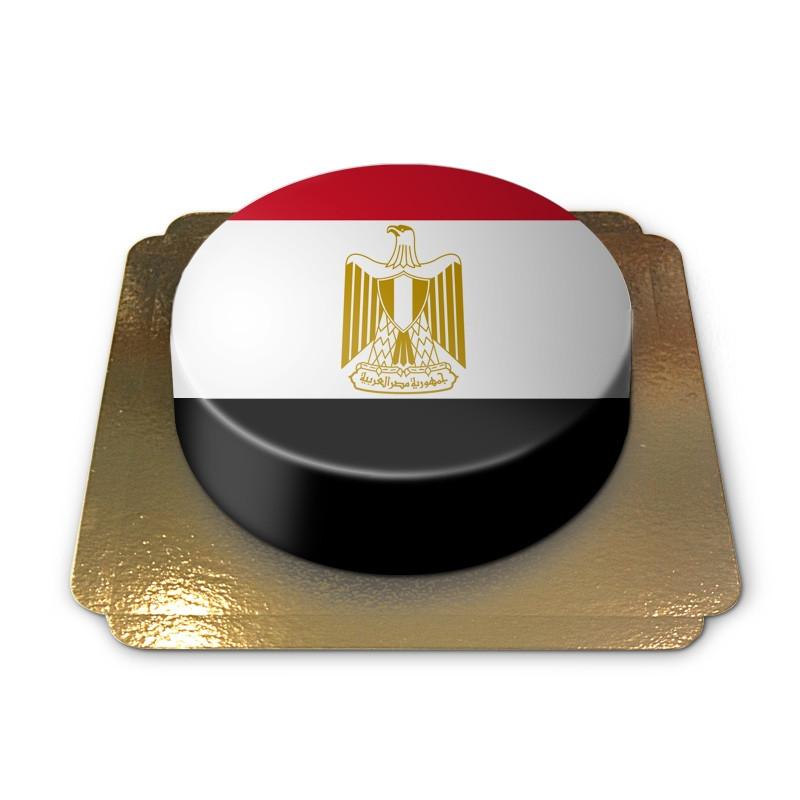 Ägypten-Flagge auf Torte