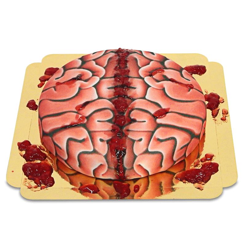 Tort - mózg z krwią (konfitura malinowa)