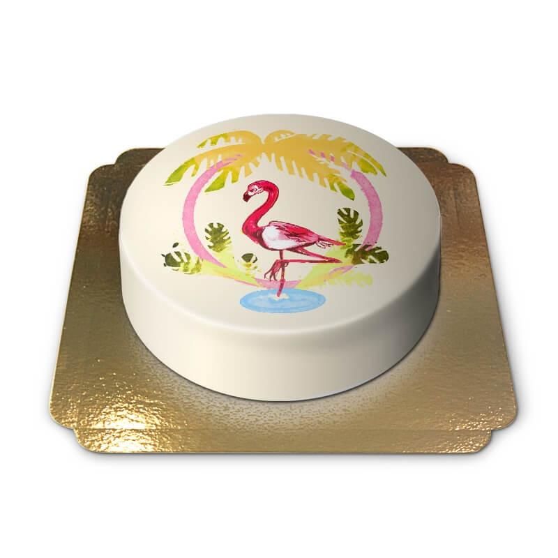 Gelbe Flamingo-Torte