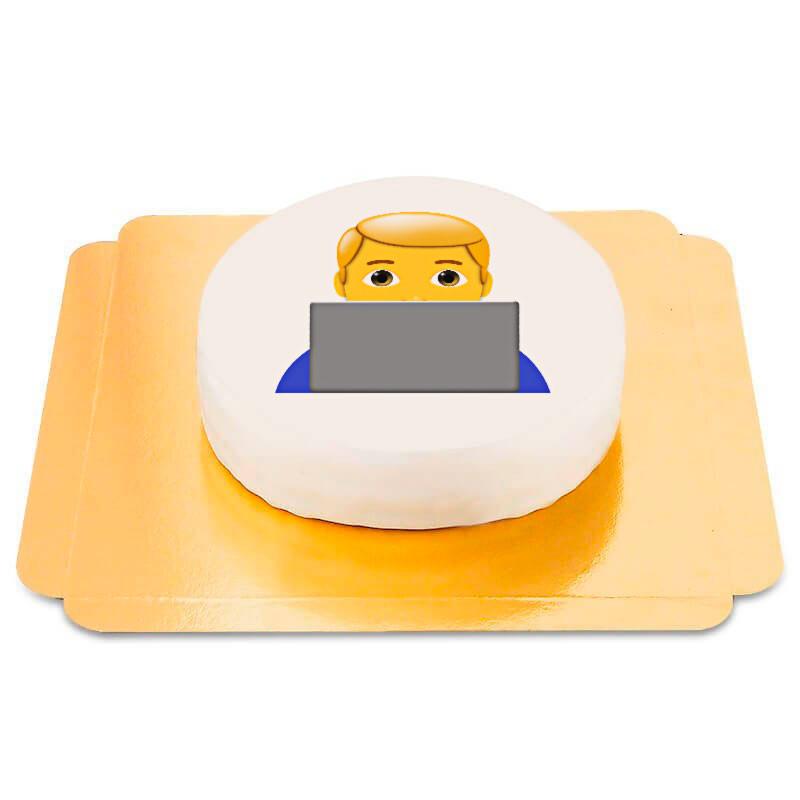 Junge am PC Emoji-Torte