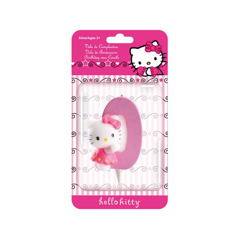 Hello Kitty Tortenkerze, Zahl 0