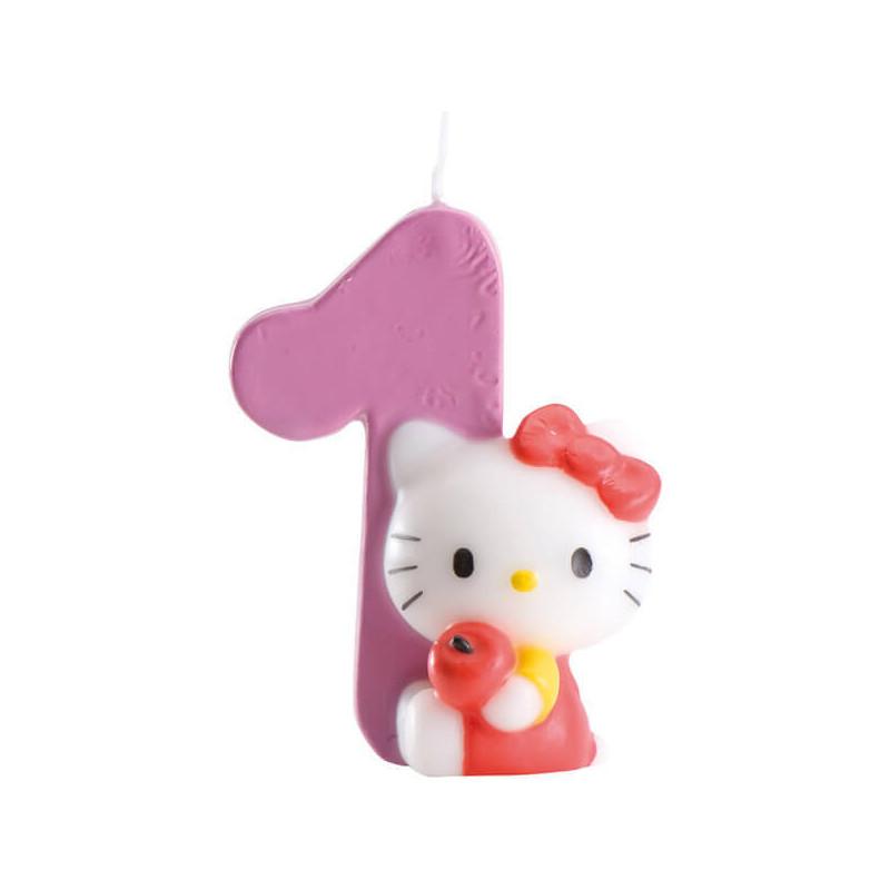 Hello Kitty Tortenkerze, Zahl 1