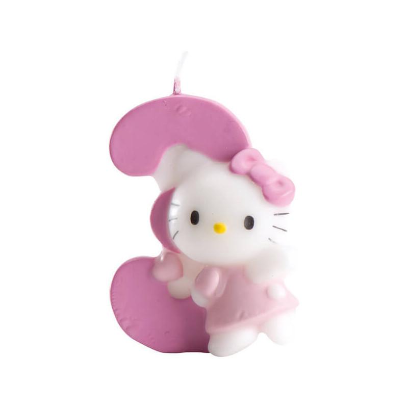 Hello Kitty Tortenkerze, Zahl 3