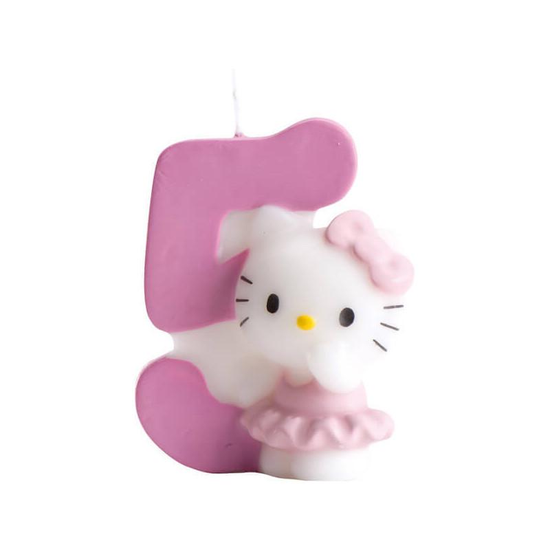 Hello Kitty Tortenkerze, Zahl 5
