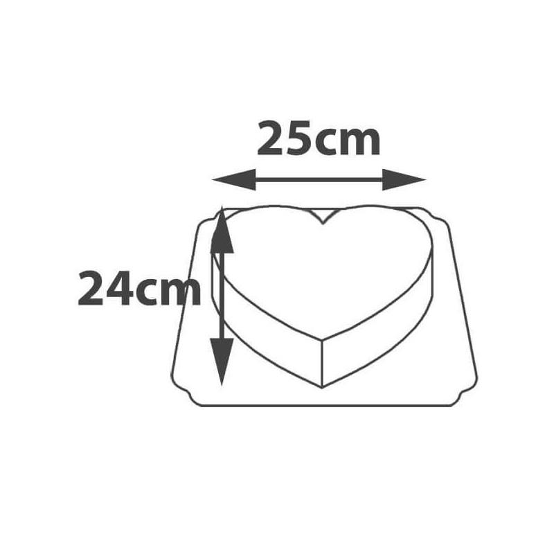 Gâteau Logo Forme Coeur