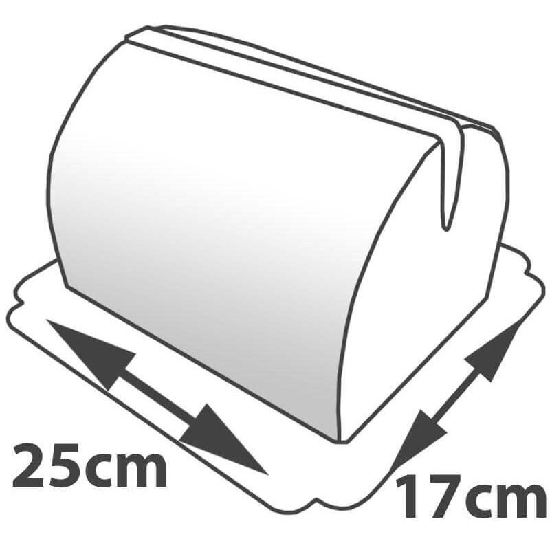 Rozmiary tortu w kształcie torebki