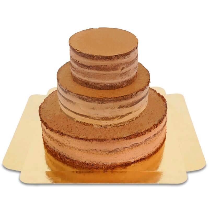 Naked Cake mariage au chocolat
