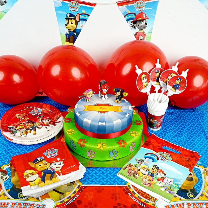 Kit d'anniversaire Pat'Patrouille - Gâteau inclus