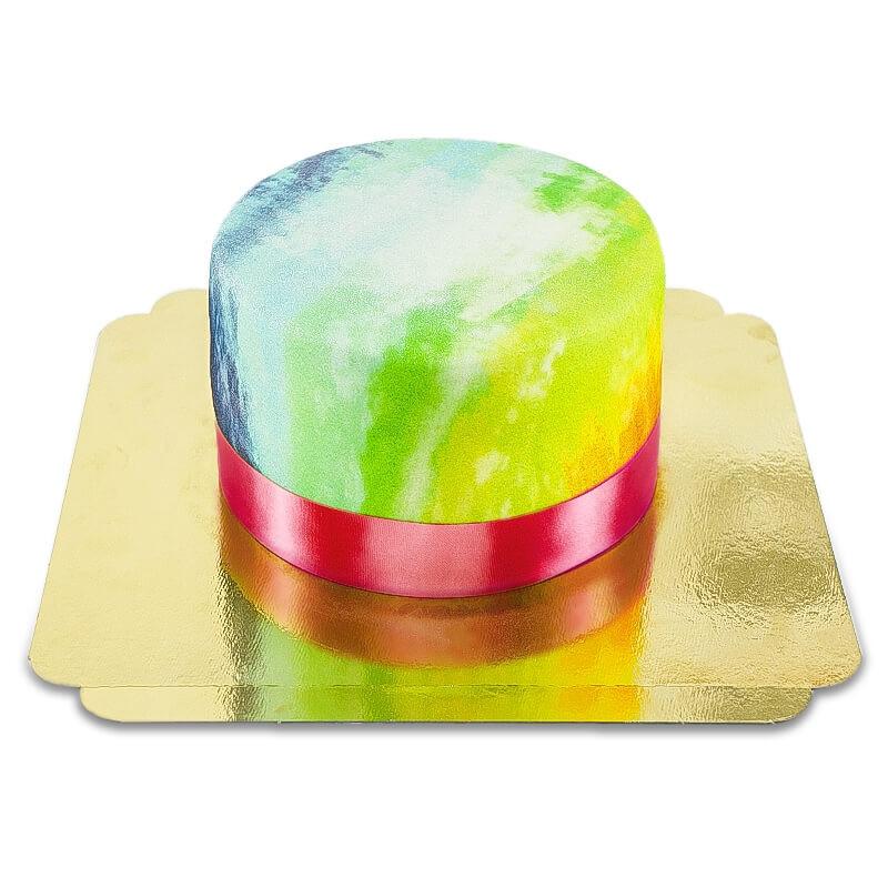 Tęczowe ciastko
