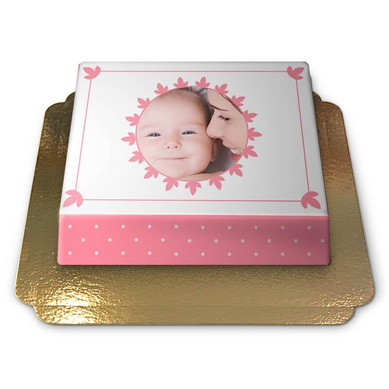 Foto-Torte zur Babyshower