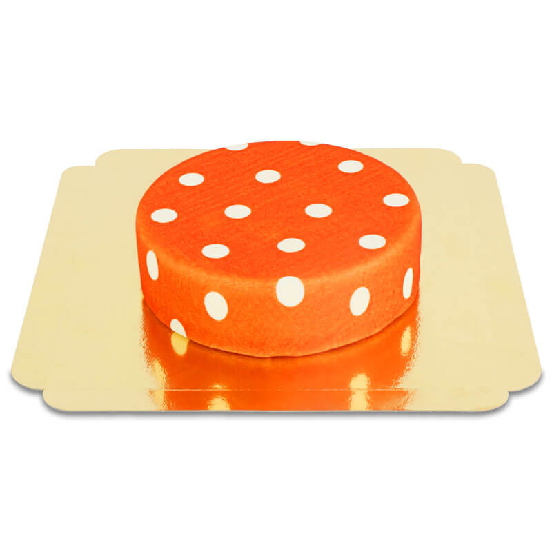 Gâteau Rouge à Pois Blancs