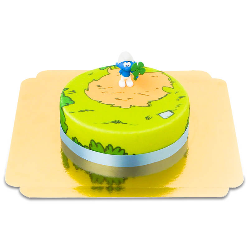 Gâteau avec Figurine Schtroumpfs