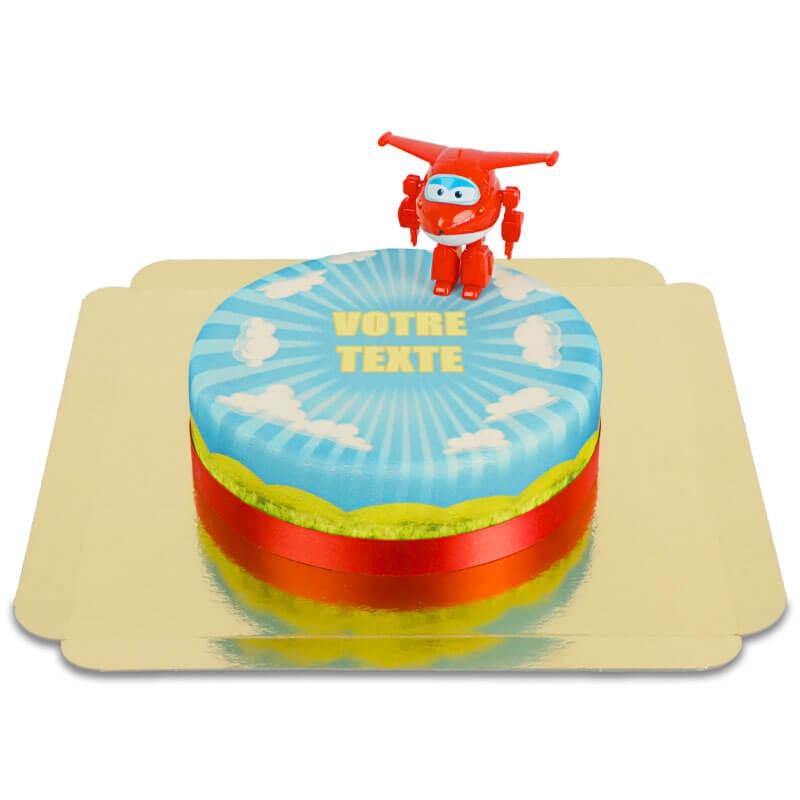 Jett de Superwings sur gâteau nuages