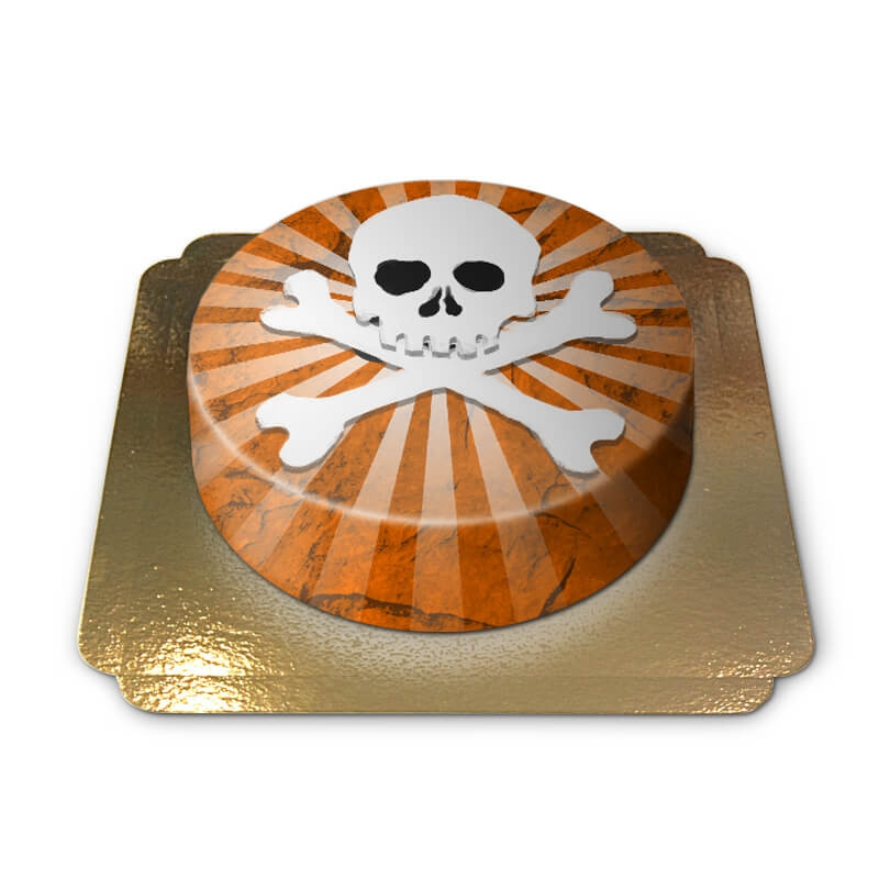 Tort z trupią czaszką