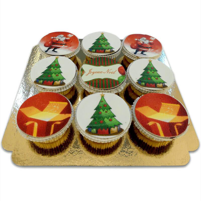 Weihnachts-Cupcakes, 9 Stück FR