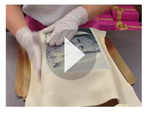 Eckige Torte ummanteln video