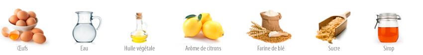 Cupcakes au citron ingrédients