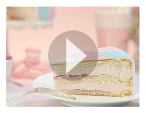 Gâteau fourrage à la framboise