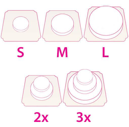 Formes et tailles des gâteaux