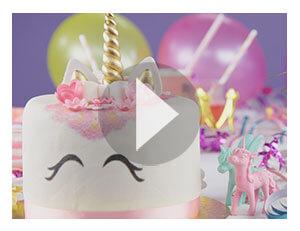 Video: Gâteaux magiques à la licorne
